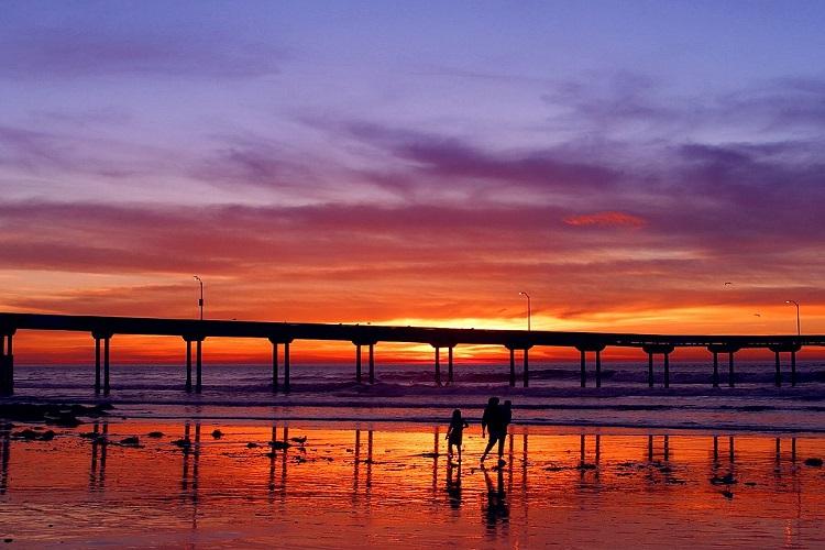 cheap flights to san diego Sunset_pier