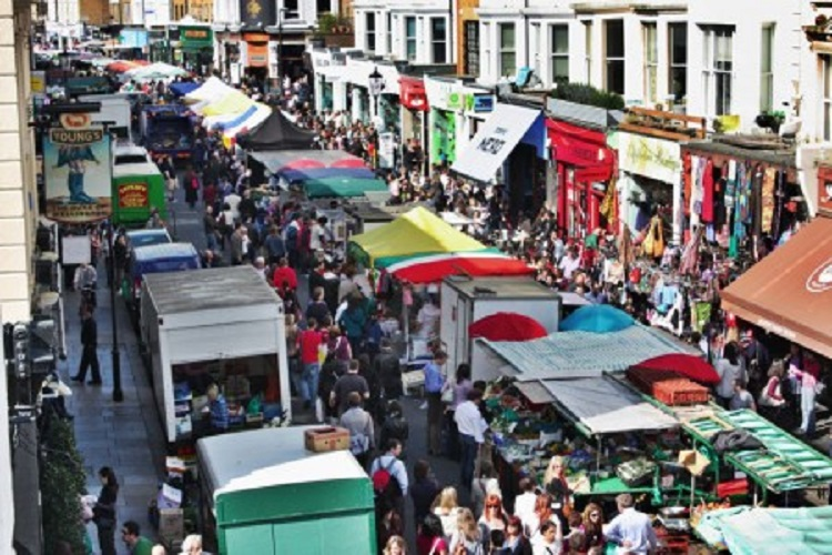 cheap flights to london and the portobello market