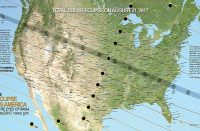 NASA Solar Eclipse Path on August 21, 2017 map