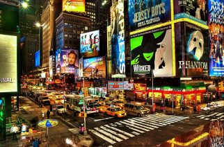 cheap flights to new york & Broadway