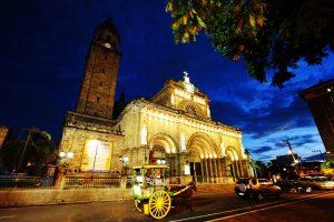 cheap flights to Manila_Cathedral_Night_Fall
