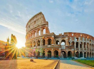 cheap flights to rome Colosseum