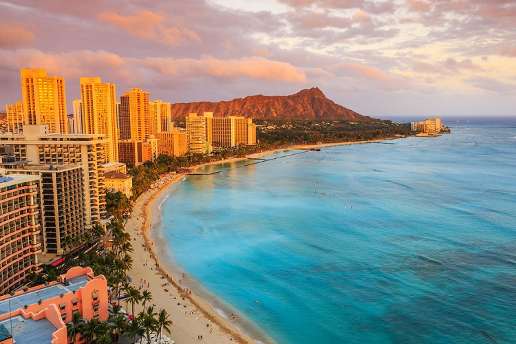 cheap flights to Honolulu sunset