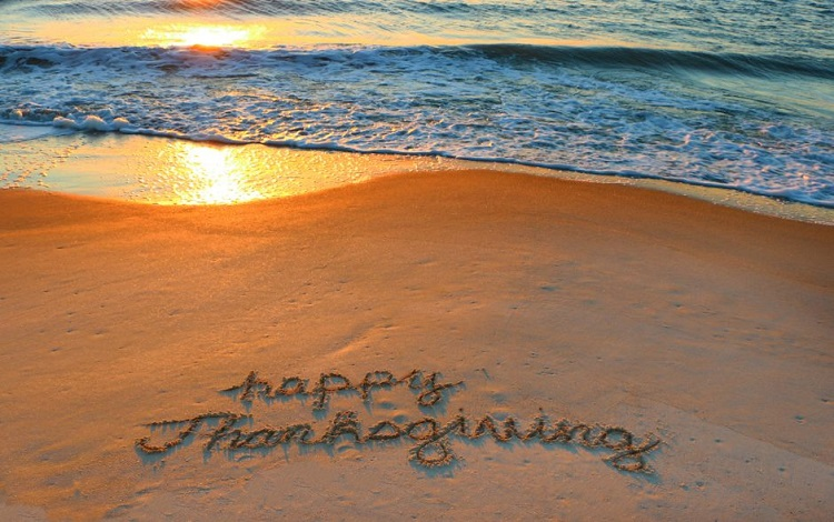 thanksgiving at the beach