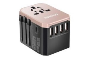 best travel adapter Epicka-Universal-Travel-Adapter-rose-gold-Travel adapter